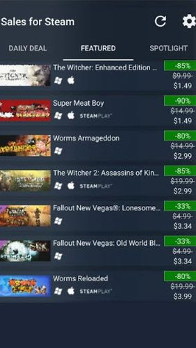 Sales for Steam