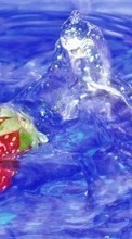 Food,Fruits,Strawberry,Water