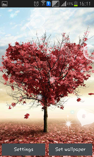 Love tree by Pro live wallpapers - baixar grátis papel de parede animado para Android 4.0.4.