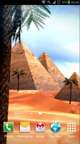 Captura de tela do Egypt 3D em telefone celular ou tablet.