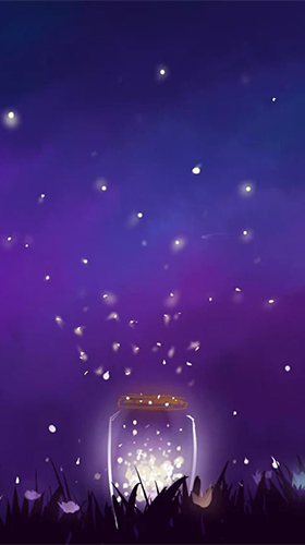 Captura de tela do Fireflies by Jango LWP Studio em telefone celular ou tablet.