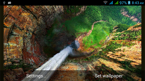 Captura de tela do Nature HD by Live Wallpapers Ltd. em telefone celular ou tablet.