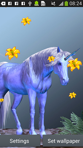 Captura de tela do Unicorn by Latest Live Wallpapers em telefone celular ou tablet.