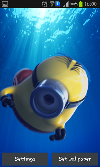 Captura de tela do Despicable me 2 em telefone celular ou tablet.