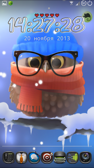 Captura de tela do Little owl em telefone celular ou tablet.