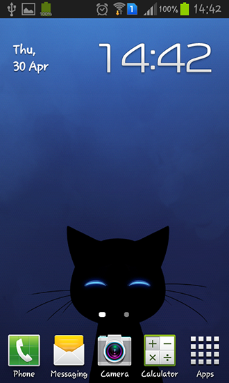 Captura de tela do Stalker cat em telefone celular ou tablet.