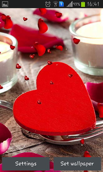Captura de tela do Valentines Day: Candles em telefone celular ou tablet.