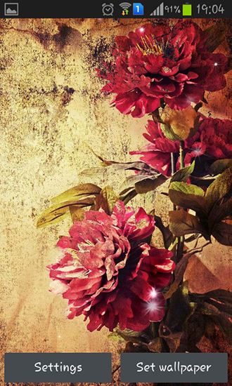 Captura de tela do Vintage roses em telefone celular ou tablet.