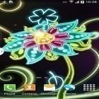 Baixar papel de parede animado Neon flowers by Live Wallpapers 3D para desktop de celular ou tablet.